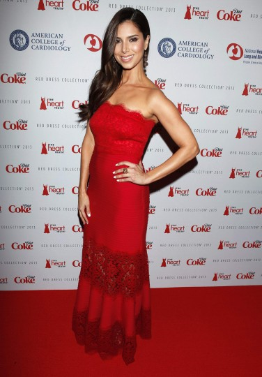 Actress Roselyn Sanchez arrives before the The Heart Truth's Red Dress Collection fashion show in New York. (Carlo Allegri/Reuters)