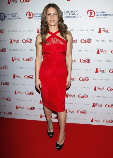 TV personality Jillian Michaels arrives before the The Heart Truth's Red Dress Collection fashion show in New York. (Carlo Allegri/Reuters)