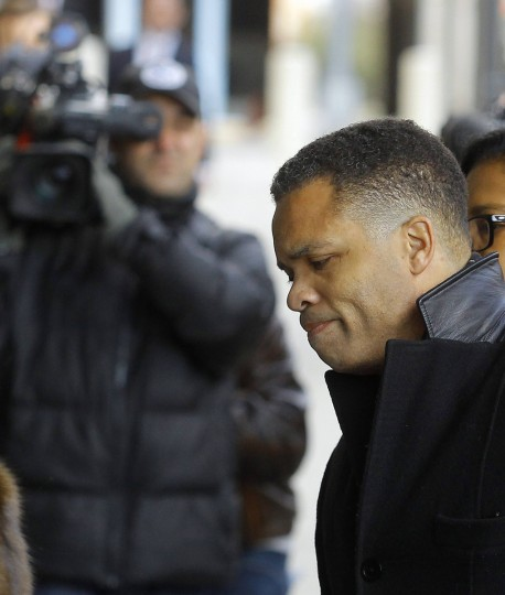 Former U.S. Rep. Jesse Jackson Jr. enters the U.S. District Federal Courthouse in Washington. Jackson, son of the famed civil rights leader, plans to plead guilty to charges filed on Friday accusing him of misusing $750,000 in campaign funds, his attorney said. Jackson's wife, Sandi Jackson, has also agreed to plead guilty to a related charge of filing false tax returns, according to her attorneys.(Gary Cameron/Reuters)