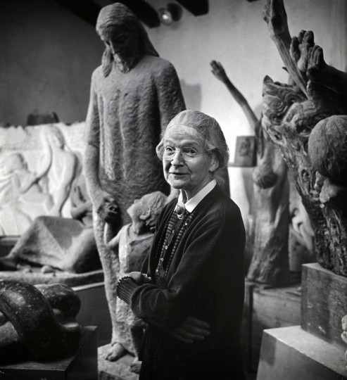 June 12, 1960 - Artist Grace Turbull photographed at her studio in Guilford. Richare Stacks/Baltimore Sun