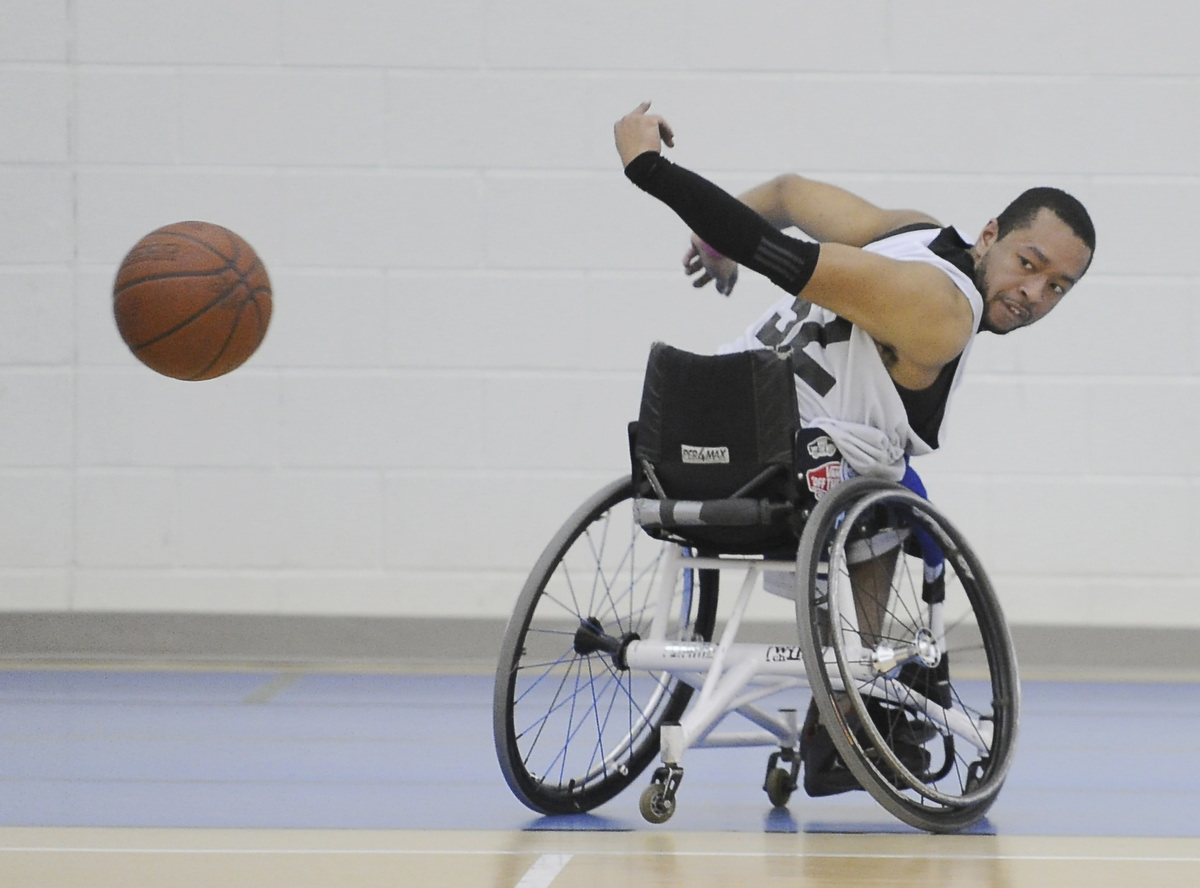 Maryland Ravens wheelchair basketball team