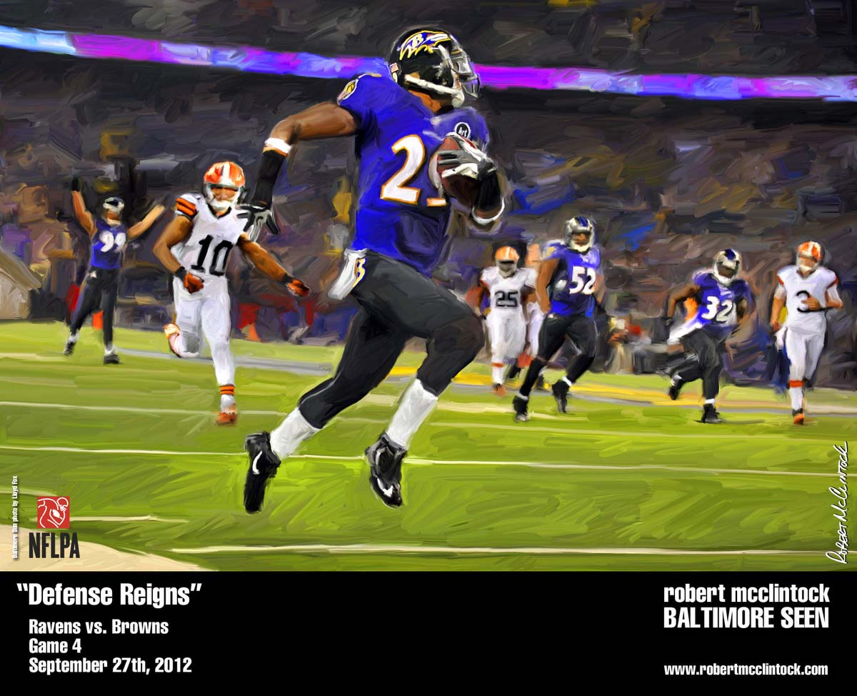 2012 Ravens Season as seen by artist Robert McClintock