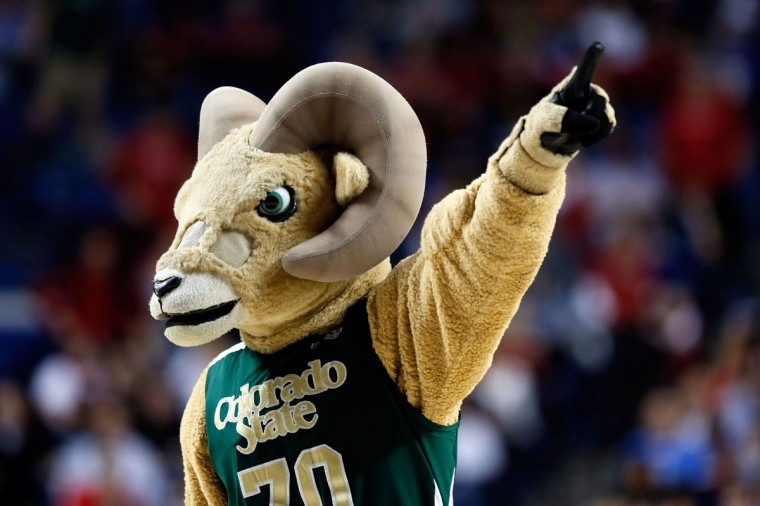 The Colorado State Rams mascot performs during the second round of the 2013 NCAA Men's Basketball Tournament at the Rupp Arena on March 21, 2013 in Lexington, Kentucky.  (Photo by Kevin C. Cox/Getty Images)