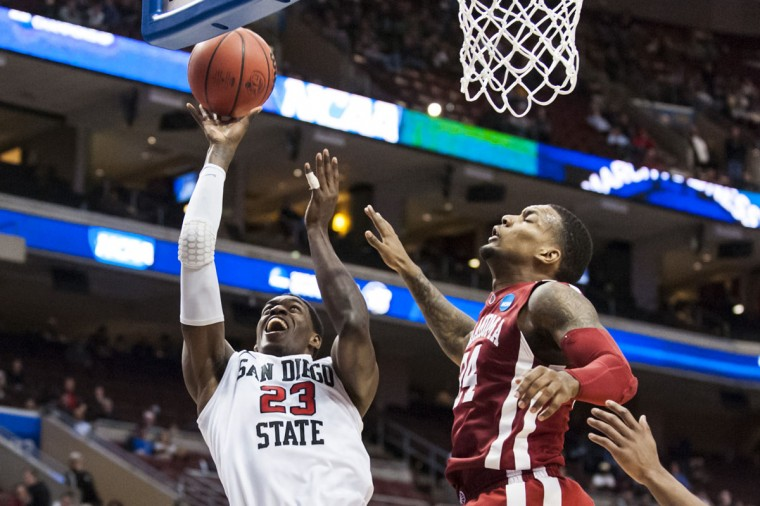 San Diego State forward DeShawn Stephens (23) shoots during the second half against Oklahoma during the second round of the 2013 NCAA tournament in Philadelphia. (Howard Smith/USA TODAY Sports)