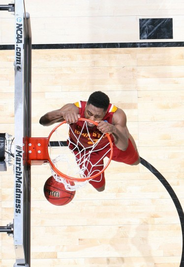 Iowa State forward Melvin Ejimdunks against Notre Dame during the second round of the 2013 NCAA tournament in Dayton, Ohio. (Brian Spurlock/USA TODAY Sports)