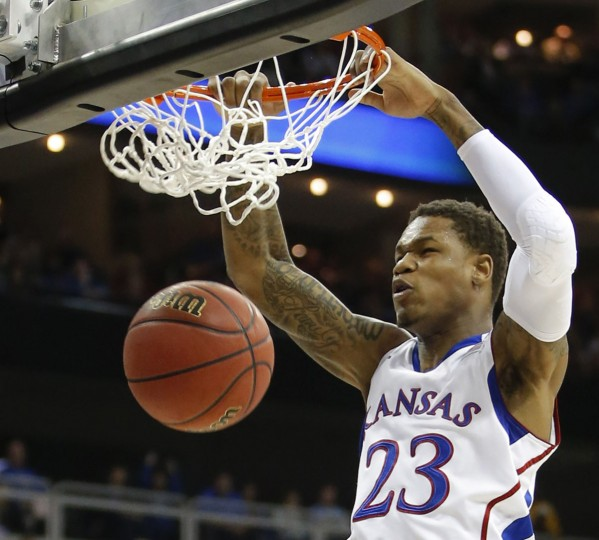Kansas' Ben McLemore dunks against Western Kentucky during the first half in the second round of the NCAA Tournament in Kansas City, Missouri, on March 22, 2013. (Travis Heying/Wichita Eagle/MCT Photo)