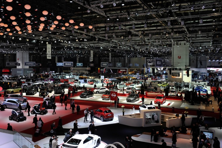 A general view of the 83rd Geneva Motor Show in Geneva, Switzerland. Held annually with more than 130 product premiers from the auto industry unveiled this year, the Geneva Motor Show is one of the world's five most important auto shows. (Harold Cunningham/Getty Images)