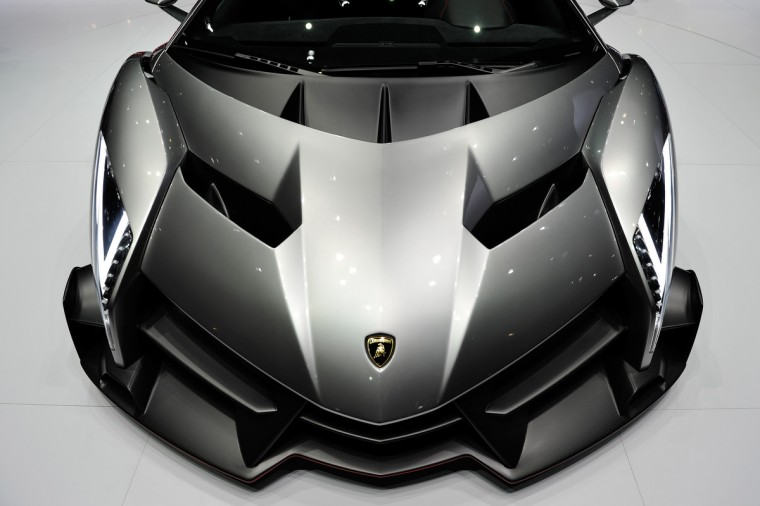 The new Lamborghini Venenos is seen during the 83rd Geneva Motor Show in Geneva, Switzerland. Held annually with more than 130 product premiers from the auto industry unveiled this year, the Geneva Motor Show is one of the world's five most important auto shows. (Harold Cunningham/Getty Images)