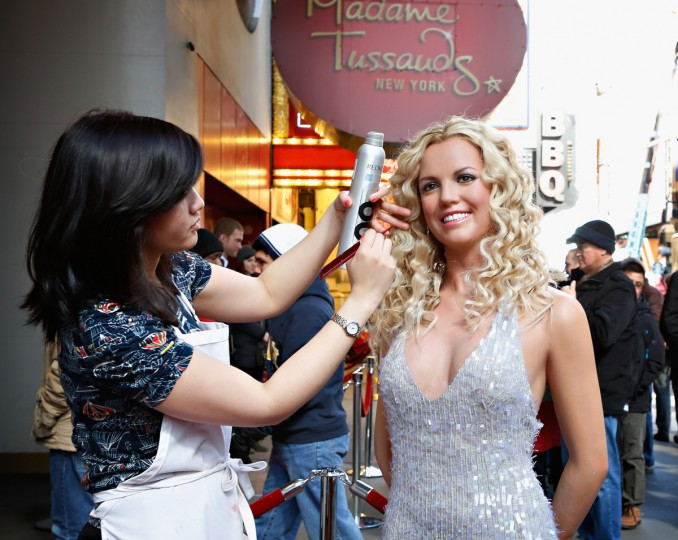 Madame Tussauds New York unveils a new wax figure of Britney Spears in New York City. (Cindy Ord/Getty Images)
