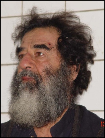 A photo of Saddam Hussein after his capture December 14, 2003. U.S. troops captured Saddam Hussein near his home town of Tikrit. DNA tests have confirmed that the man captured by US forces in Tikrit was ousted president Saddam Hussein. (U.S. Army via Getty Images)