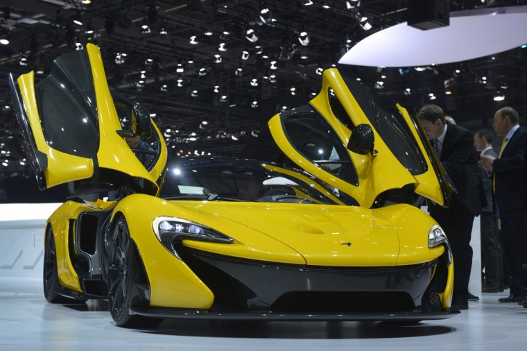 The new McLaren P1 is displayed in World premiere at the Geneva International Motor Show. (Sebastein Feval/Getty Images)
