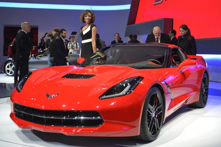 The new Chevrolet Corvette Stingray is displayed in World premiere at the American carmaker's booth. (Sebastein Feval/Getty Images)