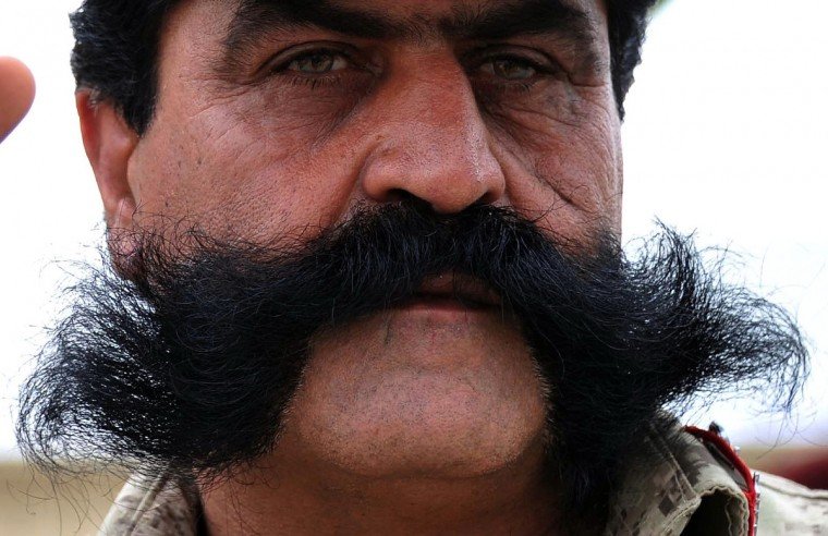 An Afghan policeman stands during a graduation ceremony at a police training centre in Jalalabad. Afghan forces, police and army, are due to take full security responsibility from their Western allies, a US-led NATO force, by the end of 2014 when the foreign troops leave the country. (Noorullah Shirzada/Getty Images)