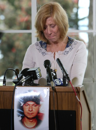 Anti-war activist Cindy Sheehan cries as she remembers her son Casey, who was killed in Iraq, as she makes a formal announcement that she is running for U.S. Congress August 9, 2007 in San Francisco, California. Sheehan, an anti-war activist and mother of killed soldier Casey Sheehan, announced today that she is running against House Speaker Nancy Pelosi for her seat in California's 8th district. (Justin Sullivan/Getty Images)