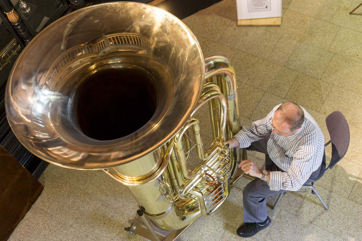 March 10 Photo Brief: World's largest functional tuba, World Baseball Classic brawl, Burning of the bulls, Chuck Hagel in Kabul