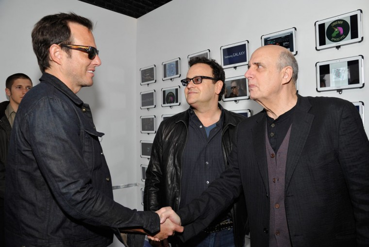 "Actor Will Arnett, writer Mitch Hurwitz and actor Jeffrey Tambor attend an ""Arrested Development"" panel at SXSW on March 10, 2013 in Austin, Texas. (John Sciulli/Getty Images for Samsung)"