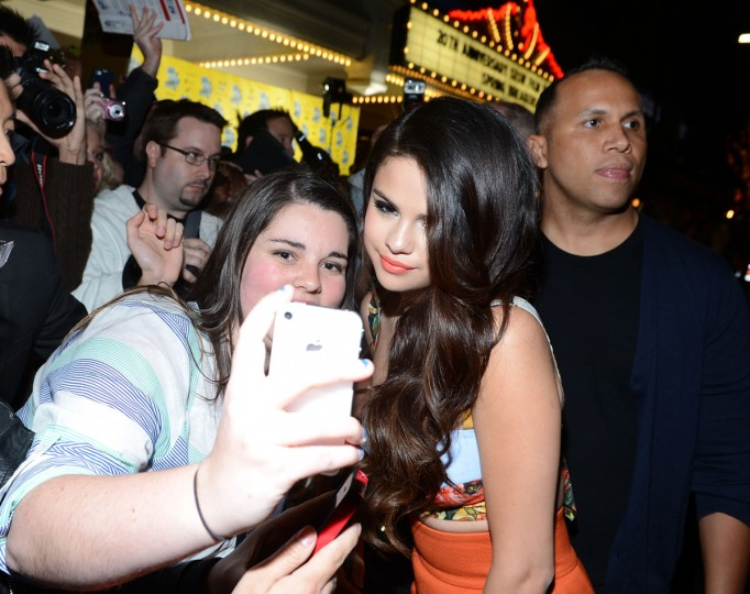 "Actress Selena Gomez arrives at the premiere of ""Spring Breakers"" during the 2013 SXSW Music, Film + Interactive Festival at Paramount Theatre on March 10, 2013 in Austin, Texas. (Michael Buckner/Getty Images for SXSW)"