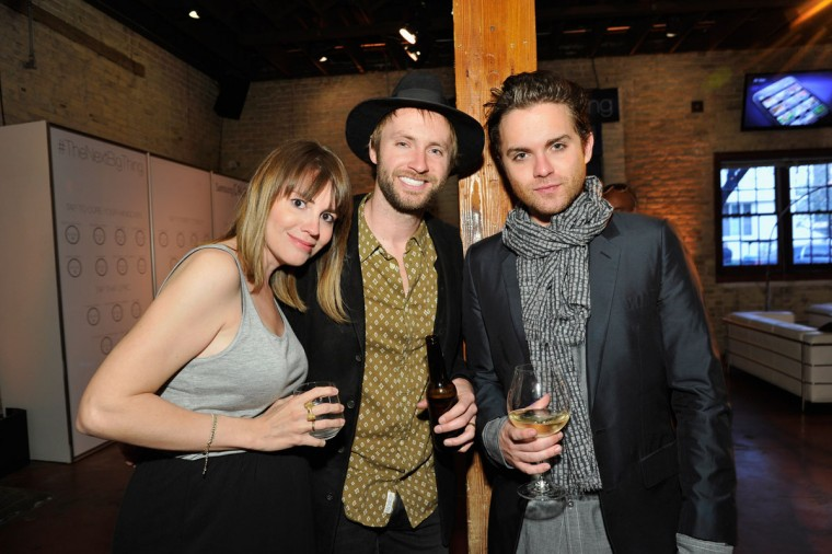 "Actress Ruby Wendell, musician Paul McDonald and actor Thomas Dekker attend the ""Snap"" cast dinner with Nikki Reed hosted by The Samsung Galaxy Experience at SXSW 2013 on March 11, 2013 in Austin, Texas. (John Sciulli/Getty Images for Samsung)"
