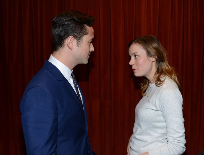 "Director Joseph Gordon-Levitt and actress Brie Larson attend the Green Room Photo Op for ""Don Jon's Addiction"" during the 2013 SXSW Music, Film + Interactive Festival at the Paramount Theatre on March 11, 2013 in Austin, Texas. (Michael Buckner/Getty Images for SXSW)"