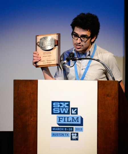 Director Saman Keshavarz, winner for Short Film Jury Award for Music Video speaks at the 2013 SXSW Film Awards during the 2013 SXSW Music, Film + Interactive Festival at The Paramount Theatre on March 12, 2013 in Austin, Texas. (Mark Davis/Getty Images for SXSW)