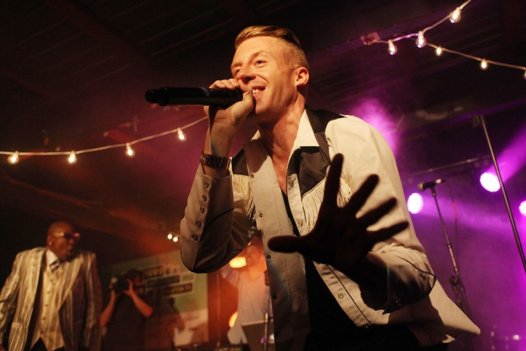 Macklemore performs onstage on March 12, 2013 at SXSW in Austin, Texas. (Roger Kisby/Getty Images for iHeartradio)