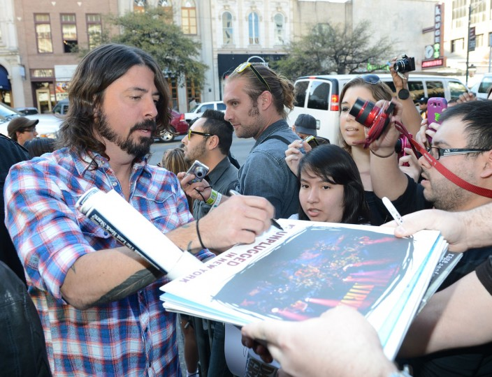 "Musician and director Dave Grohl arrives at the screening of ""Sound City"" during the 2013 SXSW Music, Film + Interactive Festival at the Paramount Theatre on March 13, 2013 in Austin, Texas. (Michael Buckner/Getty Images for SXSW)"