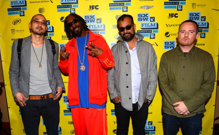 Producer Ted Chung, rap and reggae artist Snoop Lion (née Snoop Dogg), producer Suroosh Alvi and director Andy Capper attend the 'Reincarnated' screnning at the 2013 SXSW Music, Film + Interactive Festival held at the Paramount Theatre on March 14, 2013 in Austin, Texas. (Mark Davis/Getty Images for SXSW)