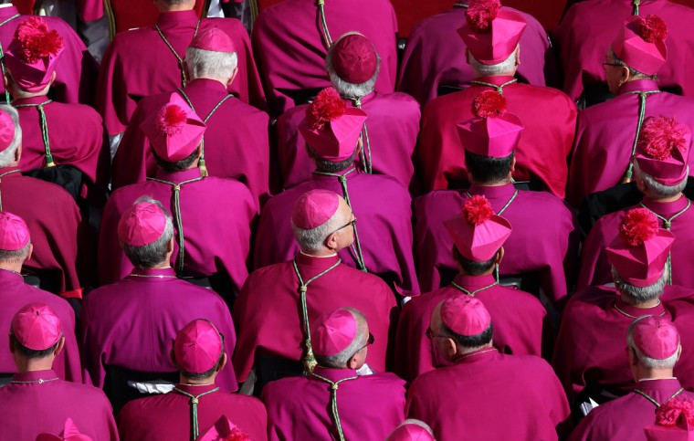 Bishops gather during the Inauguration Mass for Pope Francis in St Peter's Square on March 19, 2013 in Vatican City, Vatican. (Peter Macdiarmid/Getty Images)