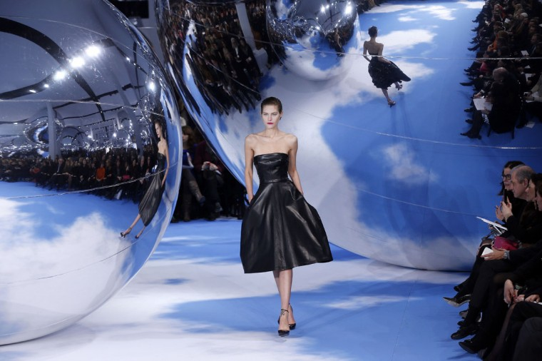 A model presents a creation for Christian Dior during the Fall/Winter 2013-2014 ready-to-wear collection show in Paris. (Francois Guillot/AFP/Getty Images)