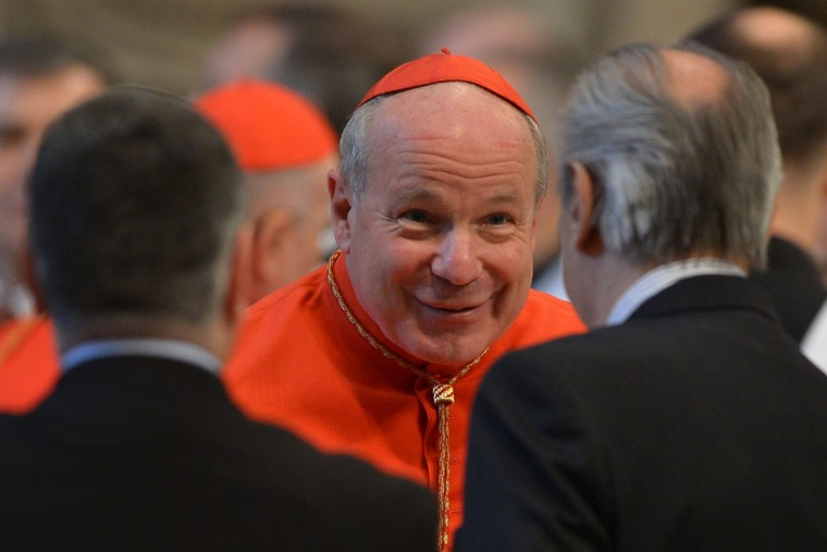 Austrian cardinal Christoph Schonborn attends a mass at the St Peter's basilica before the conclave on March 12, 2013 at the Vatican. (Gabriel Bouys/AFP/Getty Images)