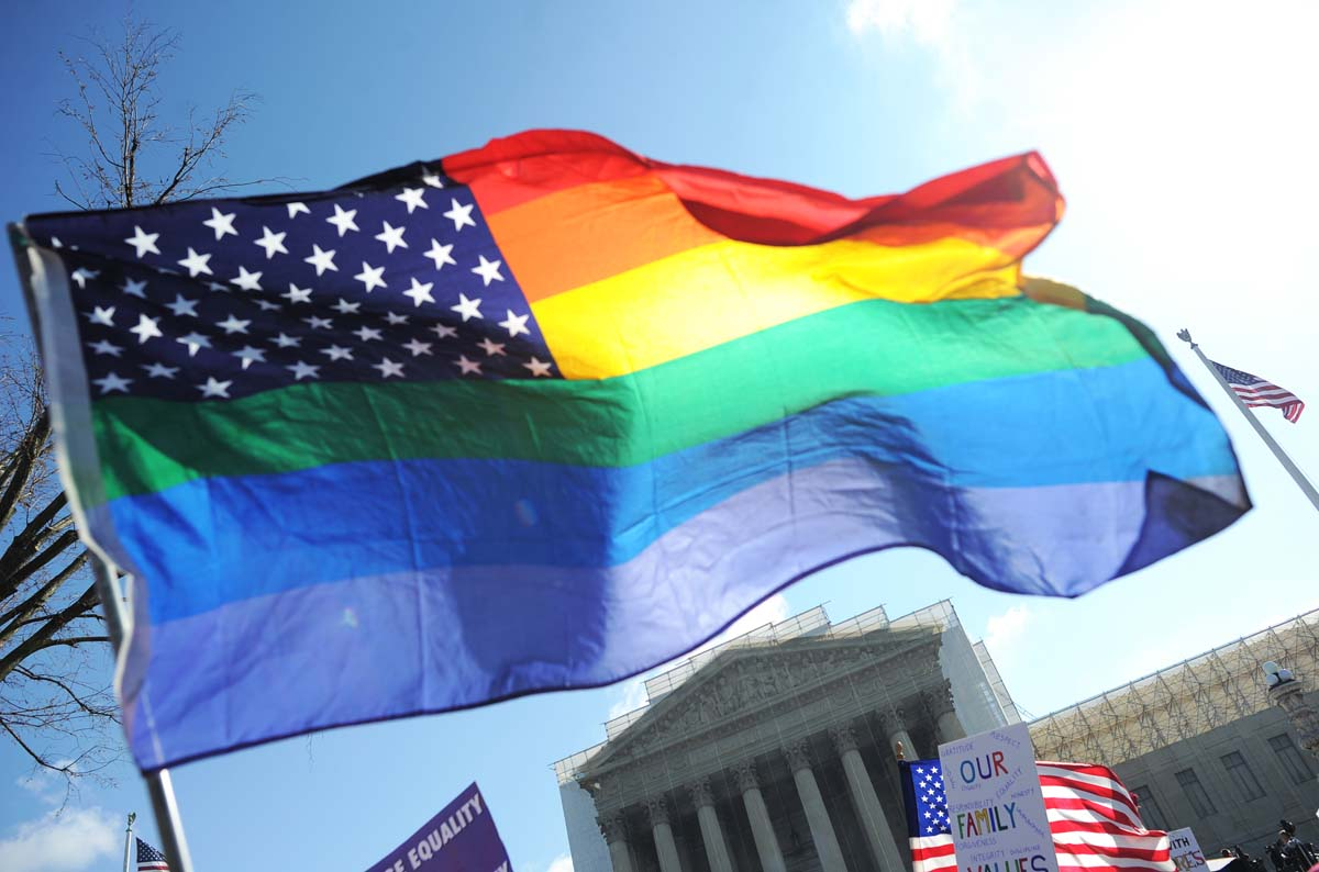 Supreme Court hears arguments in gay marriage ban case