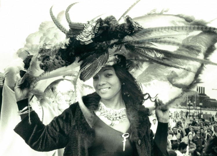 Rae McClellan of Edmonson Village won the Easter Bonnet Contest in the Inner Harbor in 1979. (Baltimore Sun File Photo)