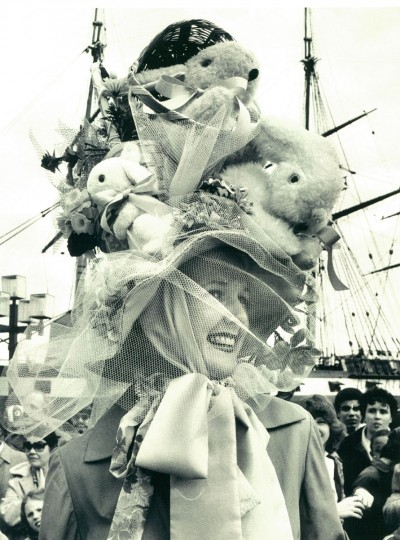 Janice Baer was judged to have the most original Easter bonnet at an Inner Harbor event in 1982. (Lloyd Pearson, The Baltimore Sun)
