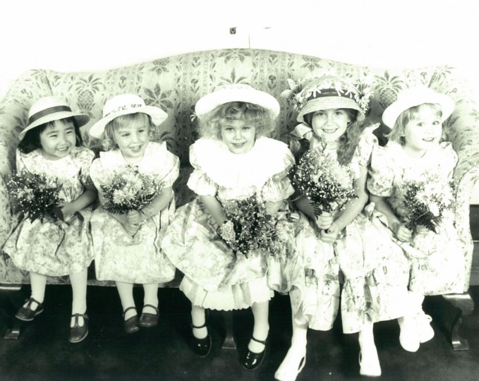 Young girls show off Easter fashion in this undated photo. (Baltimore Sun File Photo)