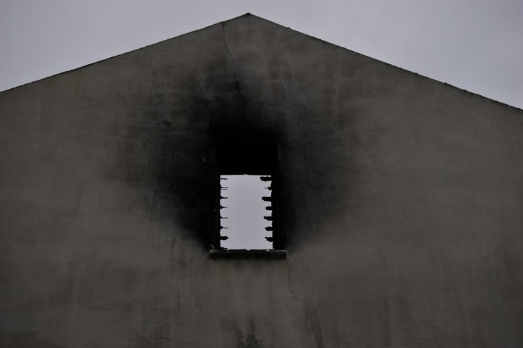Evidence of a fire on an upper floor of the main building of the Henryton complex. There've been 70 fires there over the past decade, including one within the last two weeks, local fire officials say. The abandoned buildings are slated for demolition, but no date is set. (Kim Hairston/Baltimore Sun)