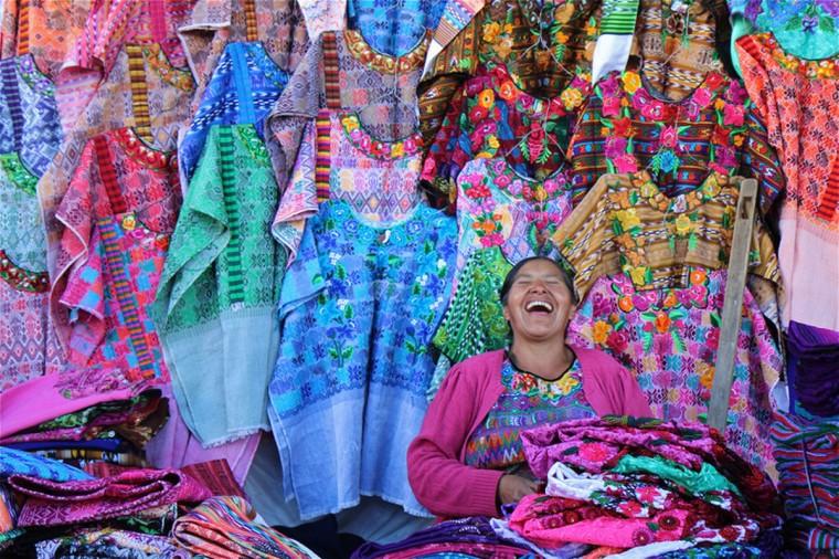 """Mayan Shirt Seller"" photo by Joan Saba"