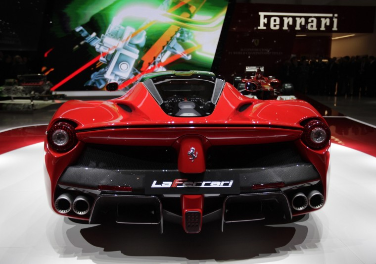 The new LaFerrari hybrid car is pictured on the Ferrari stand during the first media day of the 83rd Geneva Car Show at the Palexpo Arena in Geneva March 5, 2013. The Geneva Motor Show will take place from March 7 to 17, 2017. (Denis Balibouse/Reuters photo)
