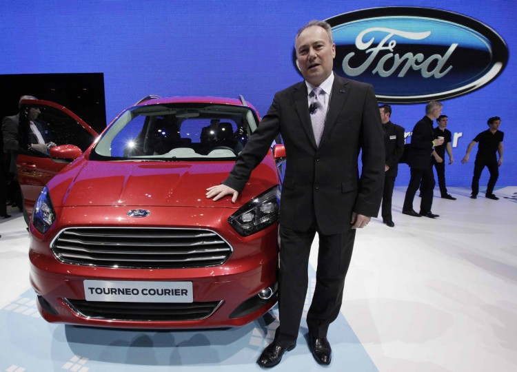 Chief Executive of Ford Europe Stephen Odell poses after the presentation of the new Ford Tourneo Courier car at the Ford stand during the first media day of the 83rd Geneva Car Show. (Denis Balibouse/Reuters photo)