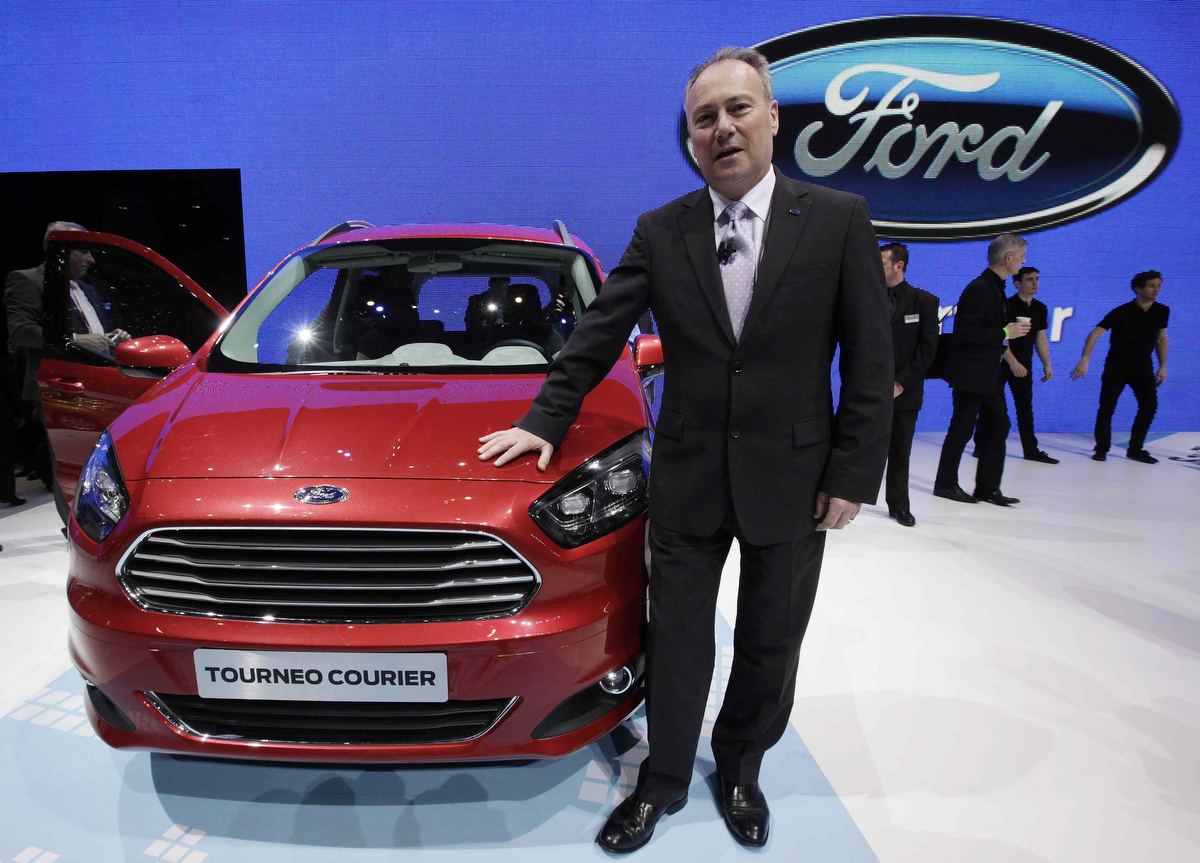 chief executive of ford europe stephen odell poses after the presentation of the new ford. Black Bedroom Furniture Sets. Home Design Ideas