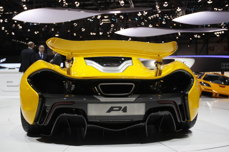 The McLaren P1 car is pictured during the second media day of the 83rd Geneva Car Show. (Denis Balibouse/Reuters photo)