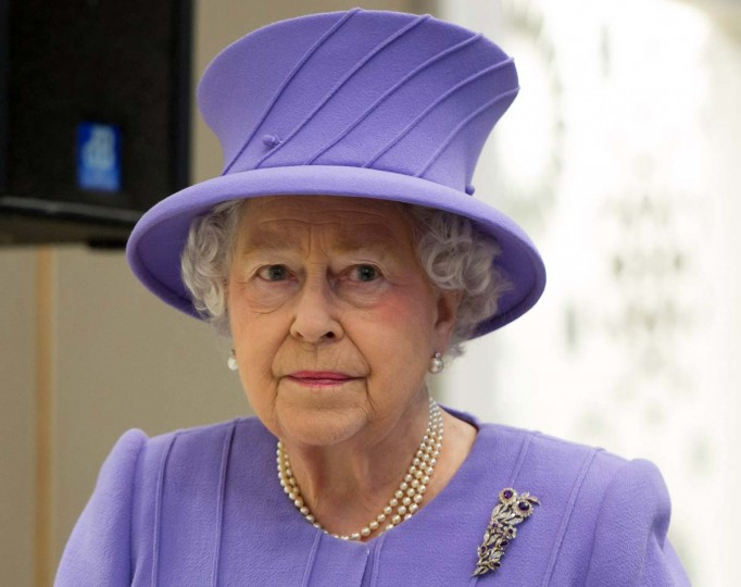 Britain's Queen Elizabeth tours the Royal London Hospital in east London in a February 27, 2013 file photo. Britain's Queen Elizabeth has been admitted to London's King Edward VII hospital with symptoms of gastroenteritis, a Buckingham Palace spokesman said on Sunday. (Ian Gavan/Reuters)