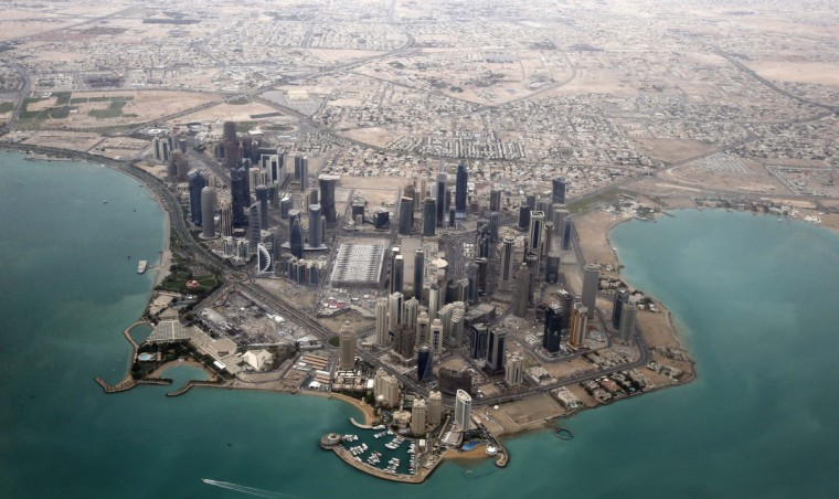 An aerial view shows Doha's diplomatic area. (Fadi Al-Assaad/Reuters)