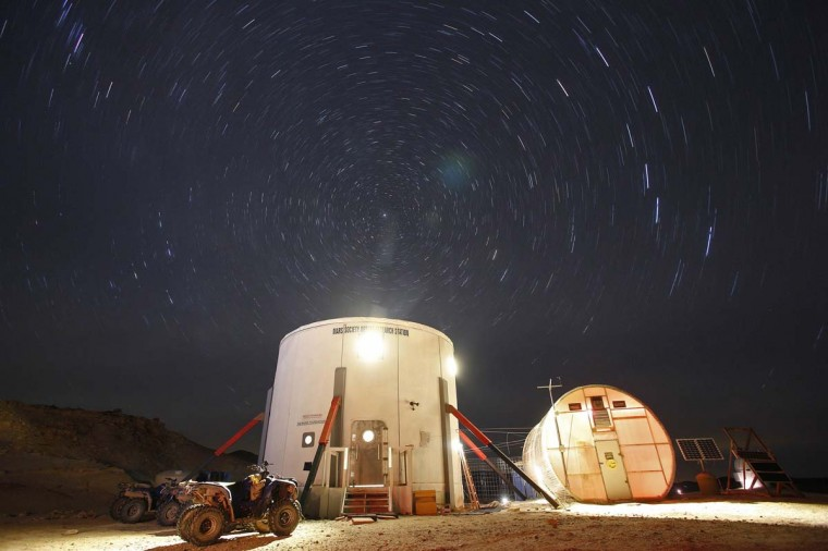 A view of the night sky above the Mars Desert Research Station (MDRS) is seen outside Hanksville in the Utah desert March 2, 2013. (Jim Urquhart/Reuters)