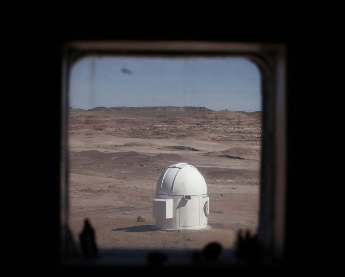 The Musk Observatory is seen from the working and living quarters at the Mars Desert Research Station (MDRS) outside Hanksville in the Utah desert March 2, 2013. (Jim Urquhart/Reuters)