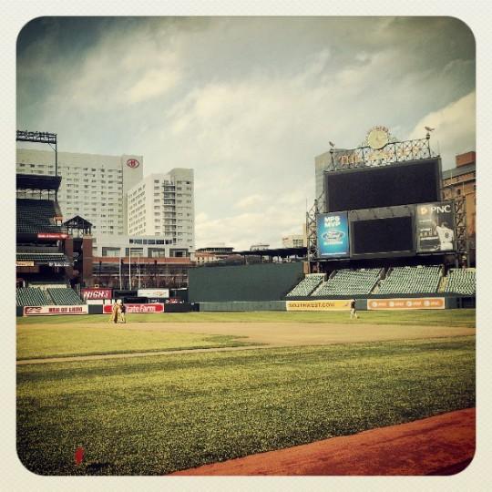 Enjoying our tour of the Orioles stadium today! (Photo taken by Benjamin Boyd)