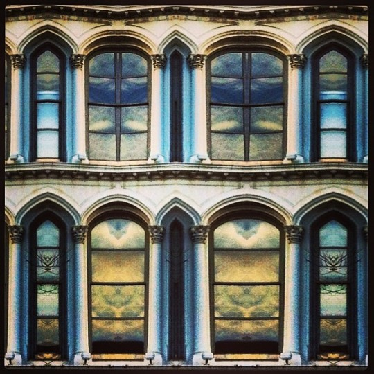 #prattst #edit #decim8 #reflection #symmetry #abstract #baltimore #architecture #glass #impressionist (Photo by johnnyrev)