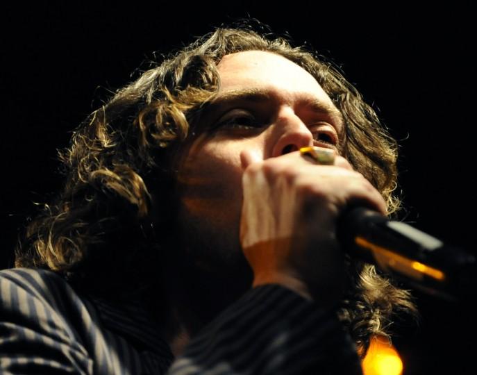 Cinder Road frontman Mike Ruocco sings. (Jon Sham/BSMG)