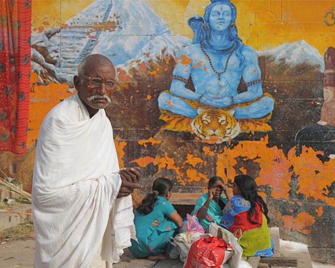 """A Man in Varanasi"" photo by Joan Saba"