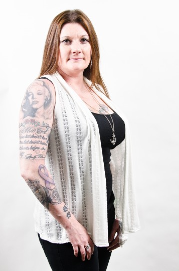 Bobbi Jacobson, 40, Cockeysville, MD at the Baltimore Tattoo Arts Convention in the Inner Harbor. (Josh Sisk/Special To The Baltimore Sun)