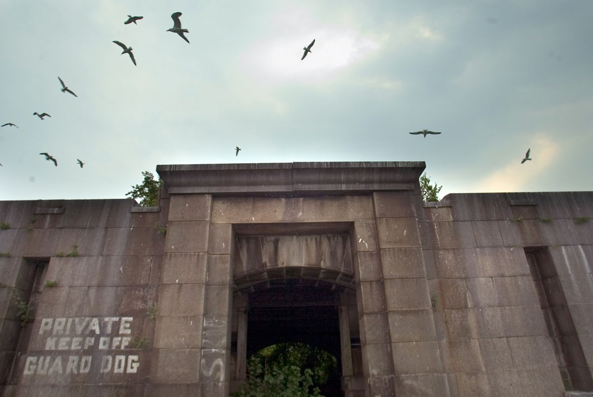 Inside Fort Carroll, an abandoned citadel on the Patapsco